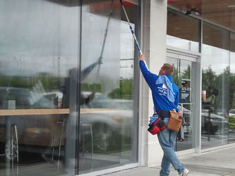 office building window cleaning