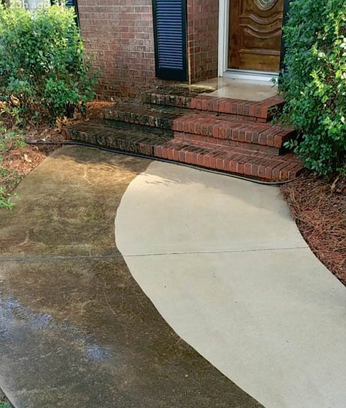 professional patio brickwork pressure washing