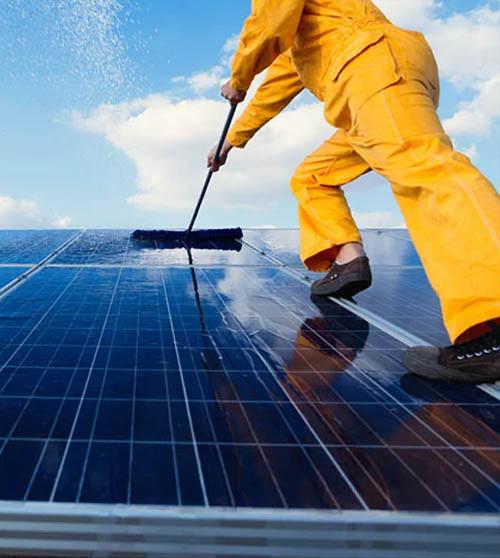 purified water brush solar panel